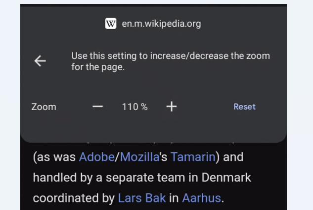 Chrome安卓版正测试页面缩放功能(开启方法)