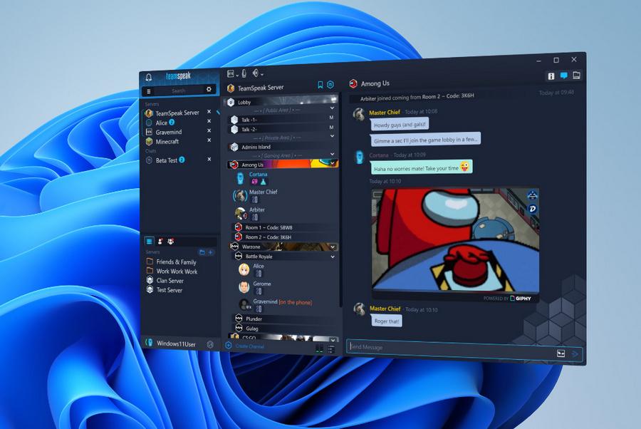 团队语音聊天应用TeamSpeak上架Win11微软商店:取代原UWP版