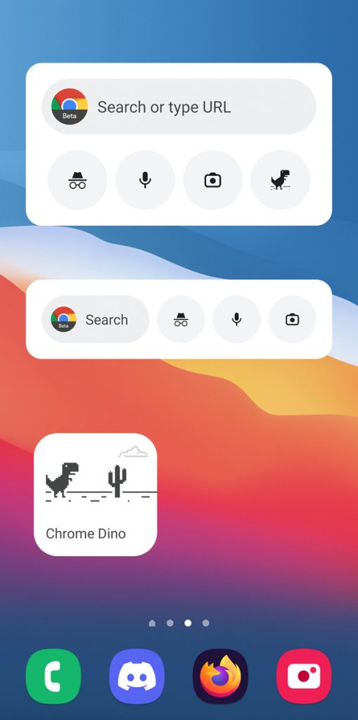 Chrome安卓版新增全新搜索小部件